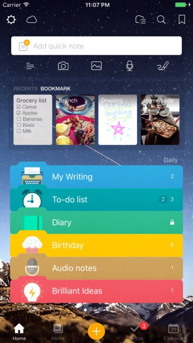 a photo of awesome note 2 top 10 mobile app ui of january 2017 - Ui Design Ideas