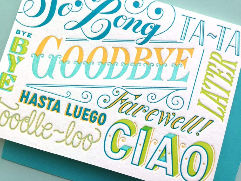 An image of Jessica Hische's lettering work for Papyrus, an influential female designer.
