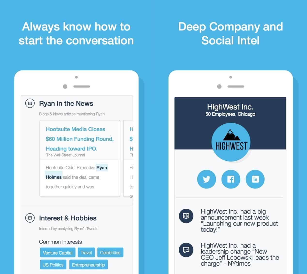 Charlie mobile app UI for rocking at meetings