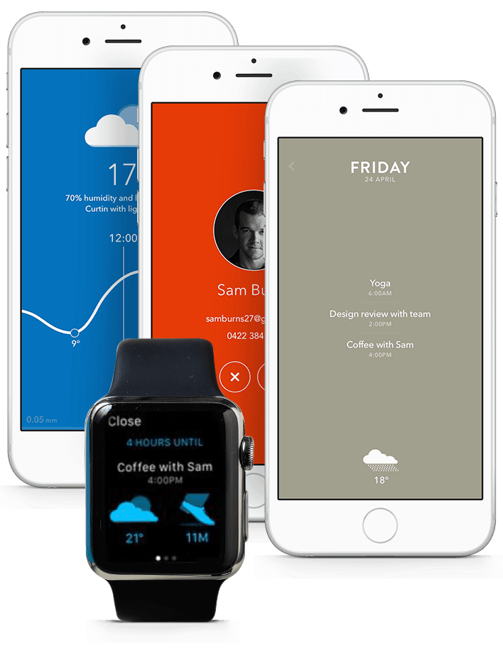 Moleskine Timepage mobile app ui makes use of rich colors and elegant typography