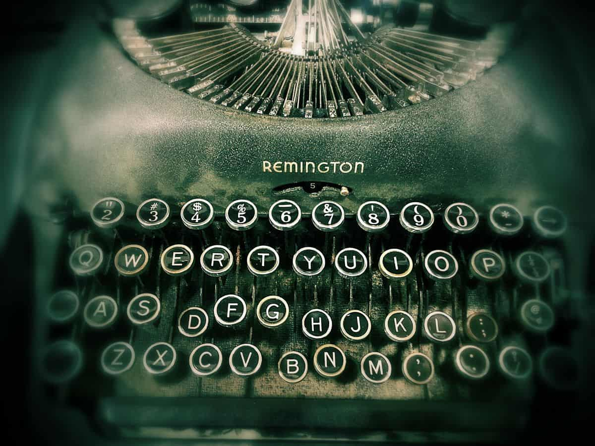 A vintage Remington typewriter. Sometimes, a simple copy makeover can make the biggest difference in your app designs.