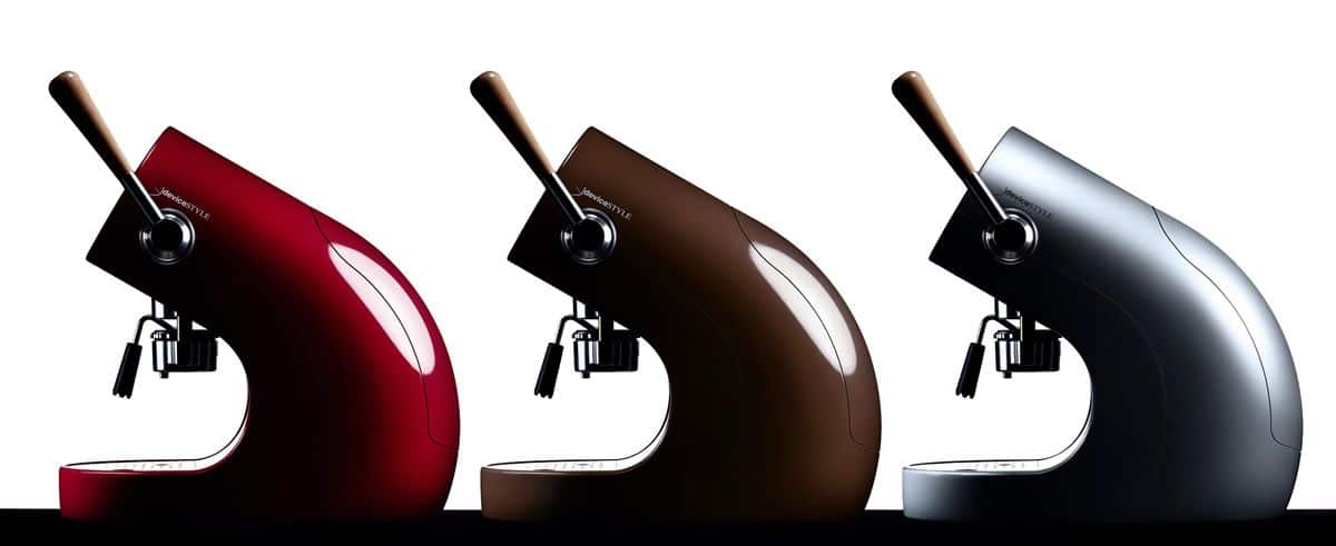 The Brunopasso PD-1 coffee makers are designed to emulate flashy Italian sports cars.