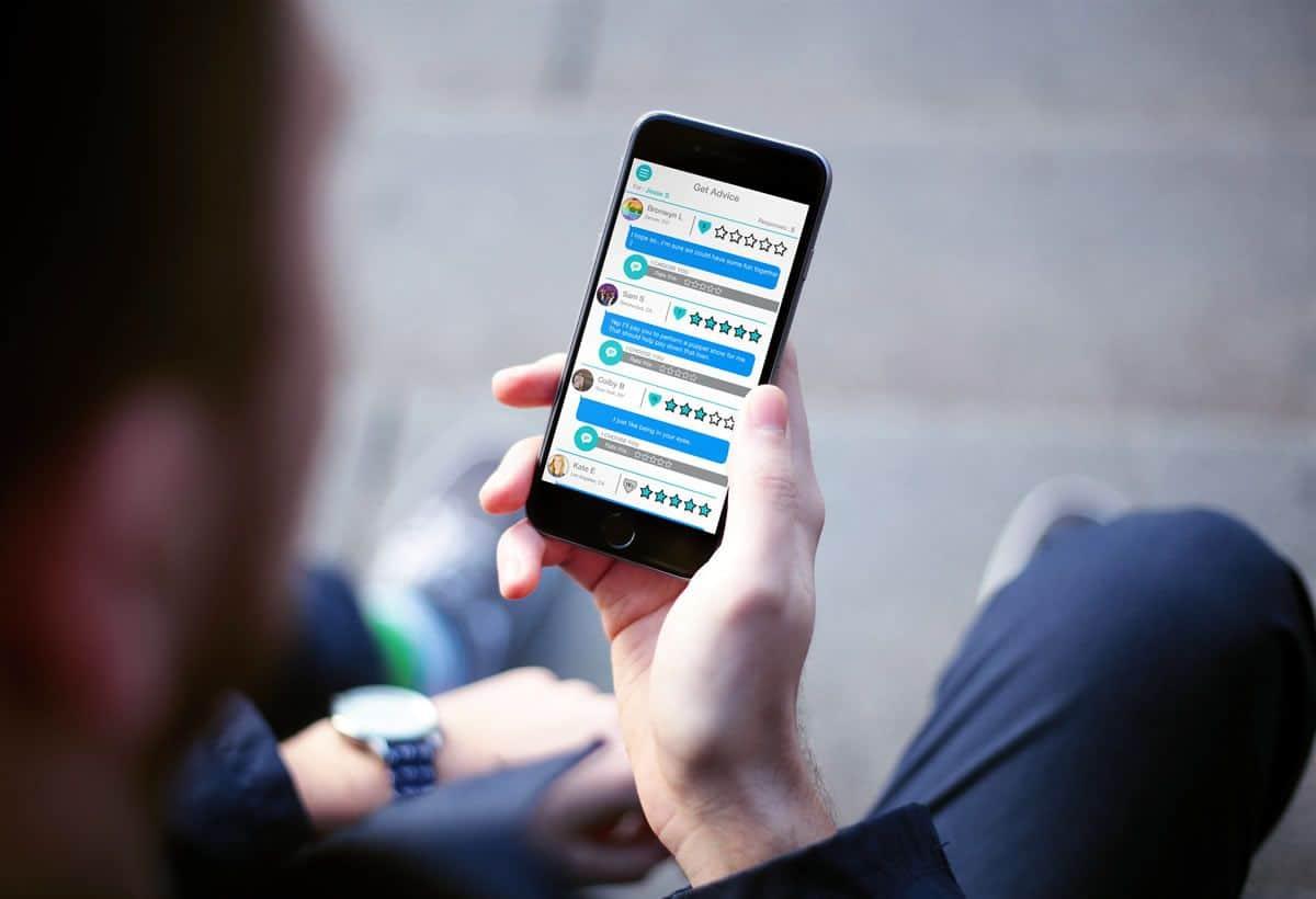 A screenshot from the Textpert app, as shown on a smartphone.