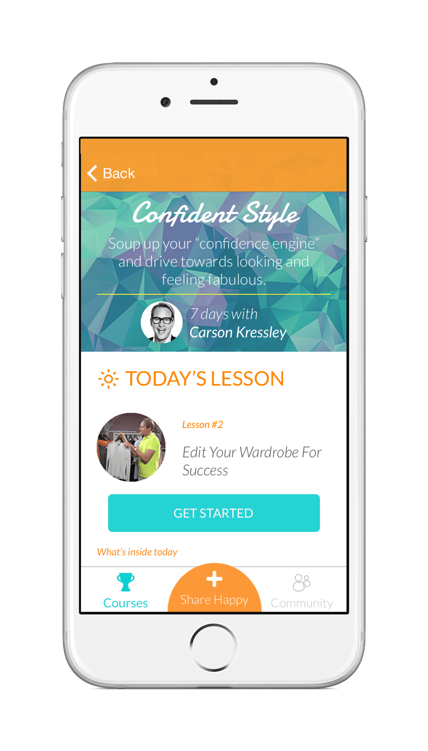Happier app is a community of people who share and express gratitude