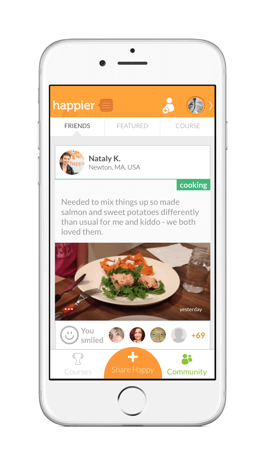 Happier app helps with positive thinking and increasing mindfulness