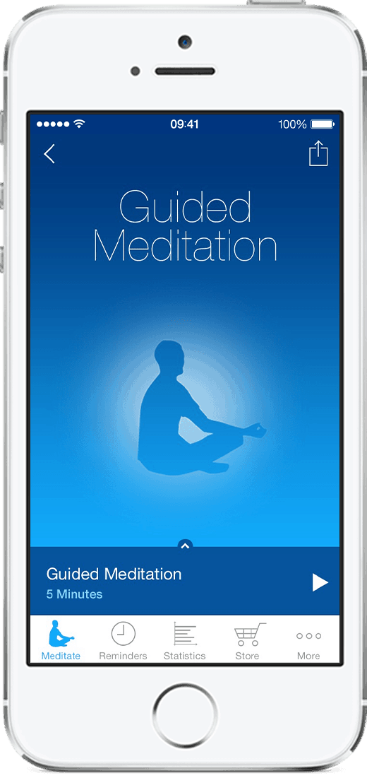 Screenshot of app to improve mindfulness