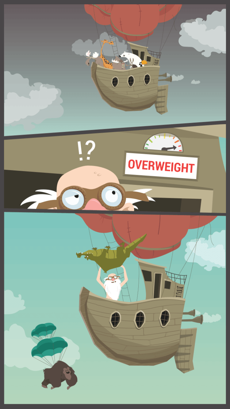 Mobile game Noah's Arkways sports some beautiful illustrations in the app design