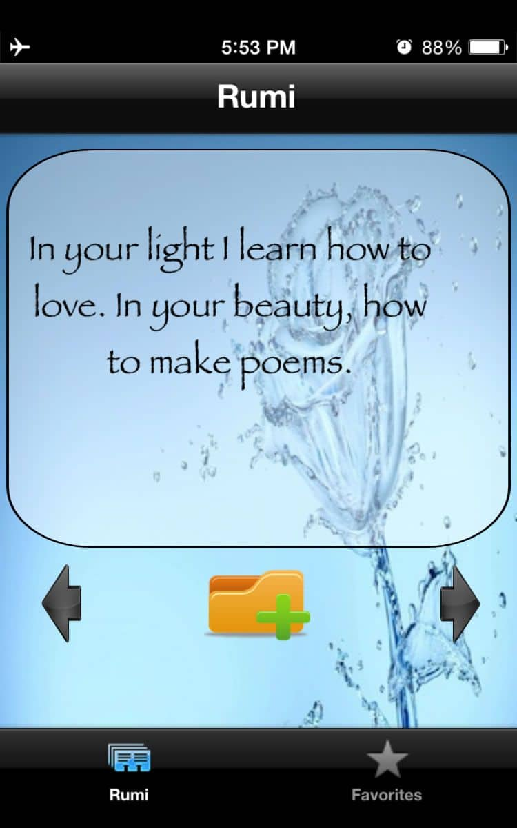 Rumi the Mystic app to increase mindfulness with daily Rumi quotes
