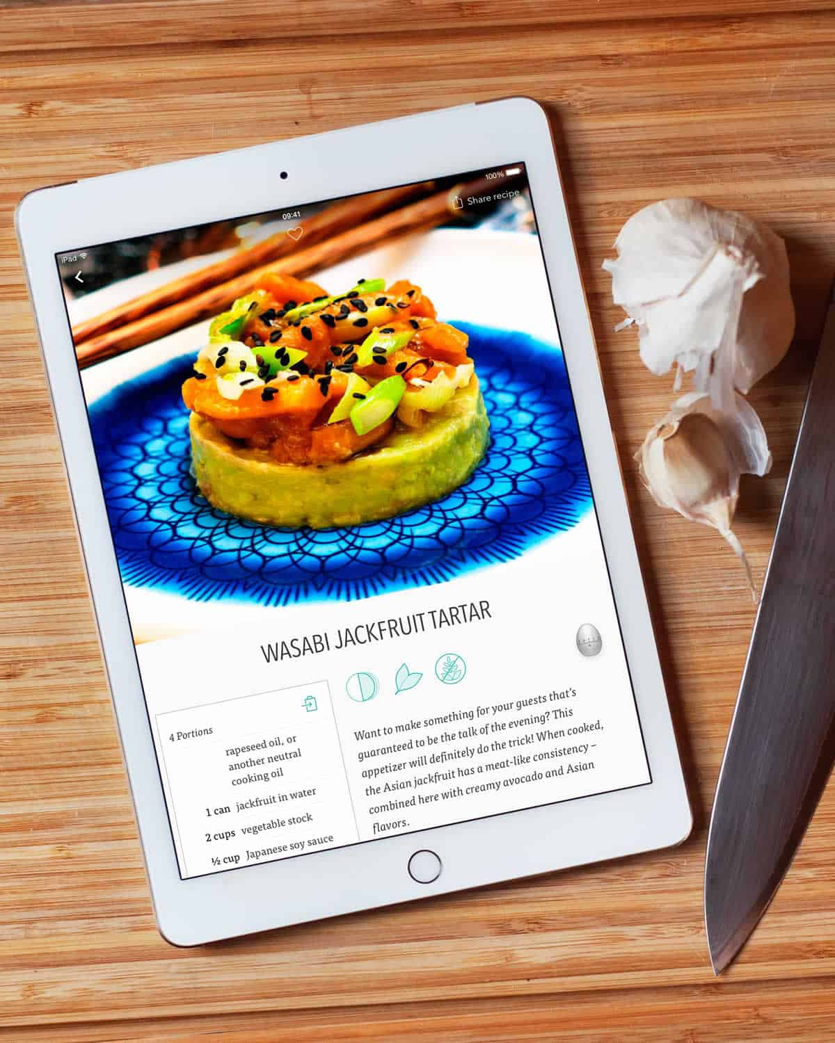 Vegourmet selects the best in food photography to spice up their app design