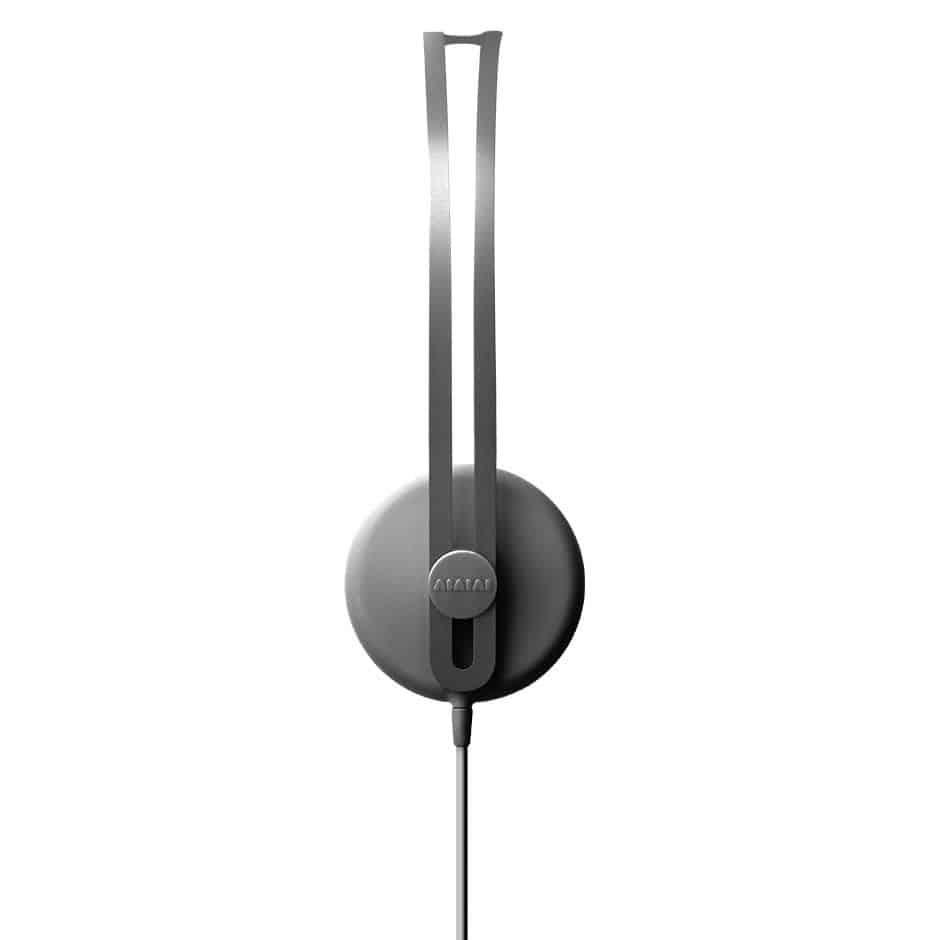Side view of the stylish headphones Tracks by award winning audio design company AIAIAI