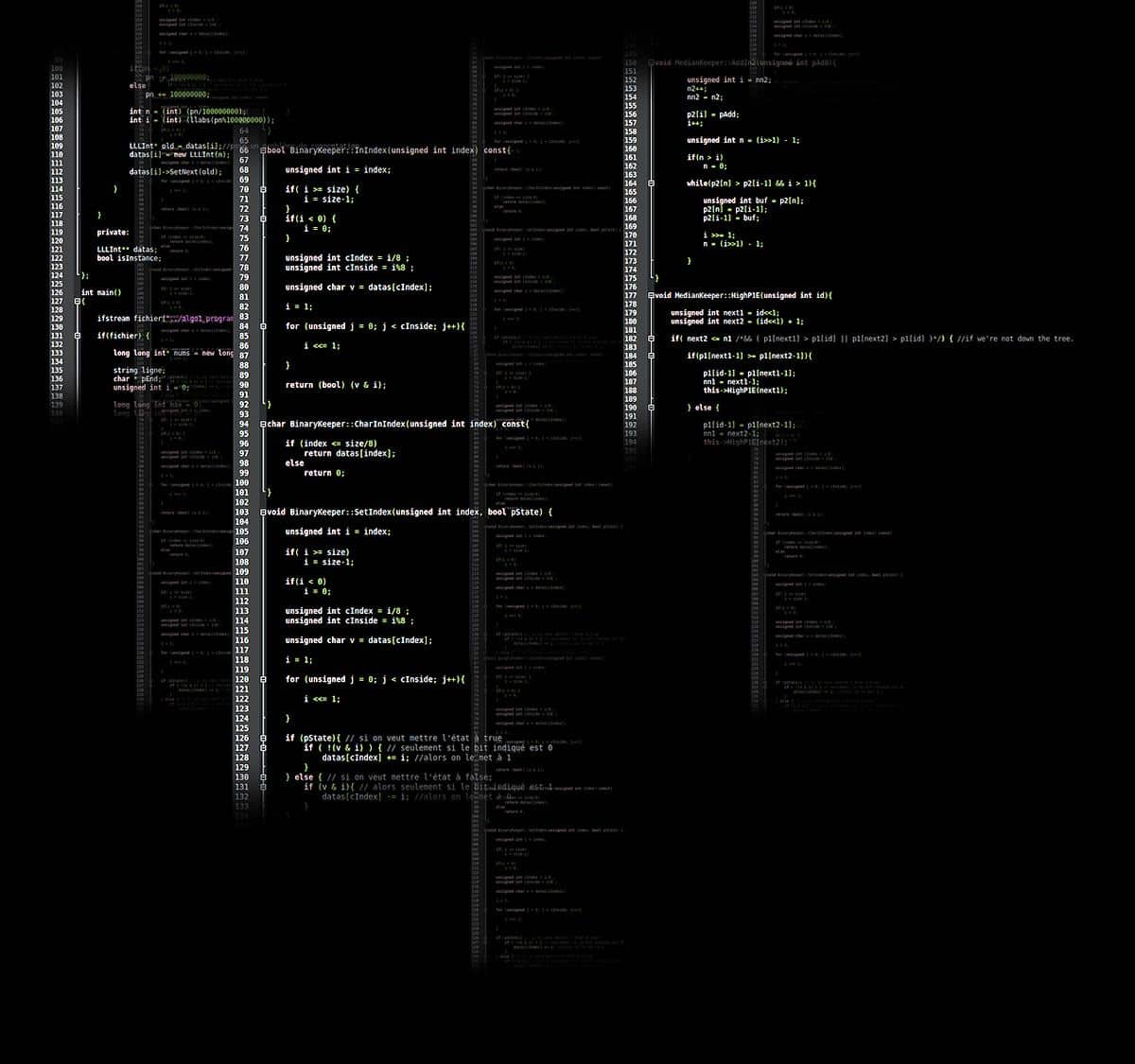 Screens of code represent how the future of mobile app development is about a race against time.