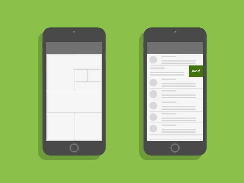 Keep up with mobile app ui trends in the app redesign but maintain predictability.
