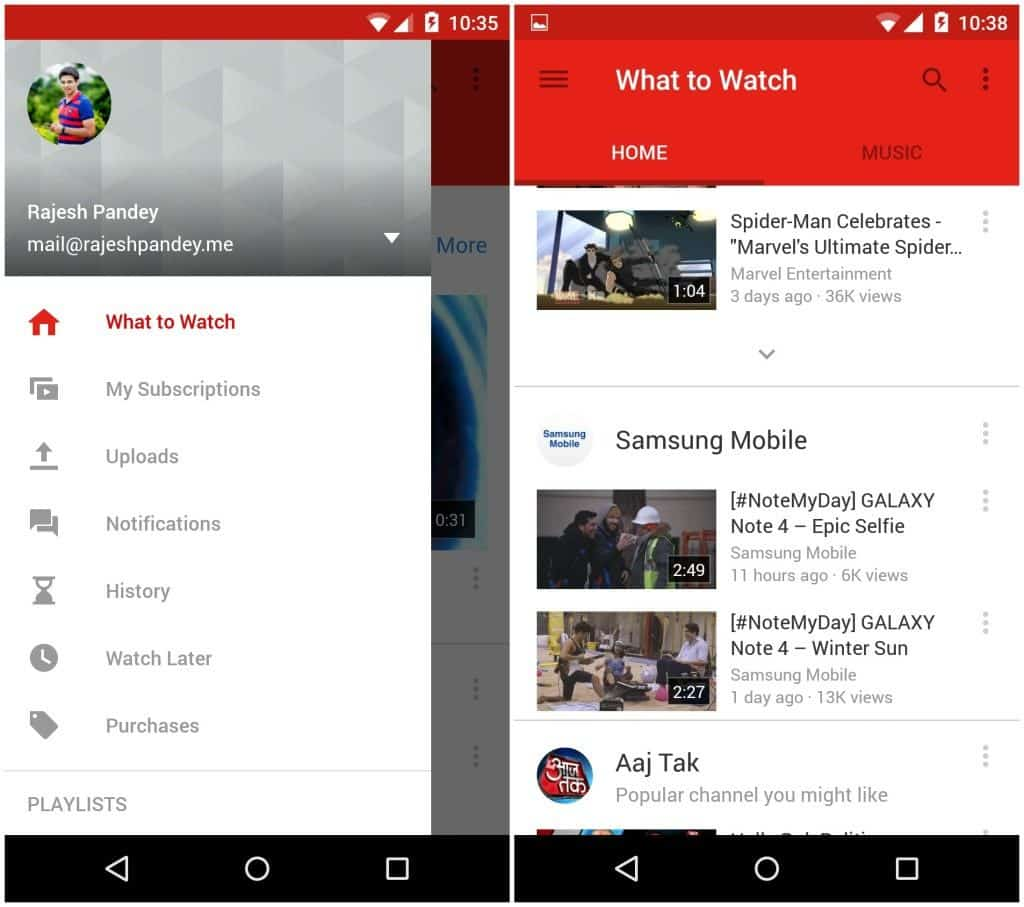 YouTube redesigned its navigation from drawer to tabs, changing the game of good Android UX design.