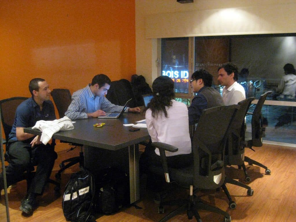 A user testing scenario in an office