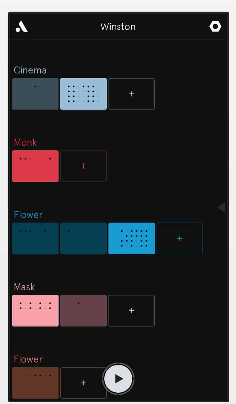 Screenshot of beautiful simple design of Auxy Music Studio app.