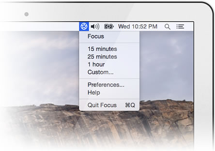Productivity apps like Focus Mac menu bar app can help to tame the craziness of work life.