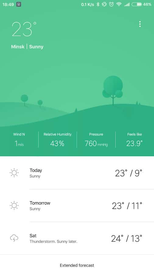Screenshot of Weather Mate mobile app designs.