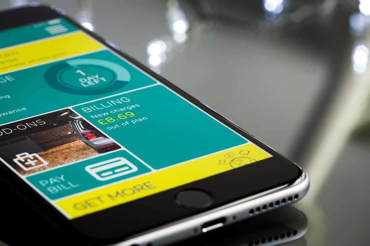 A photo of an app on an iPhone.