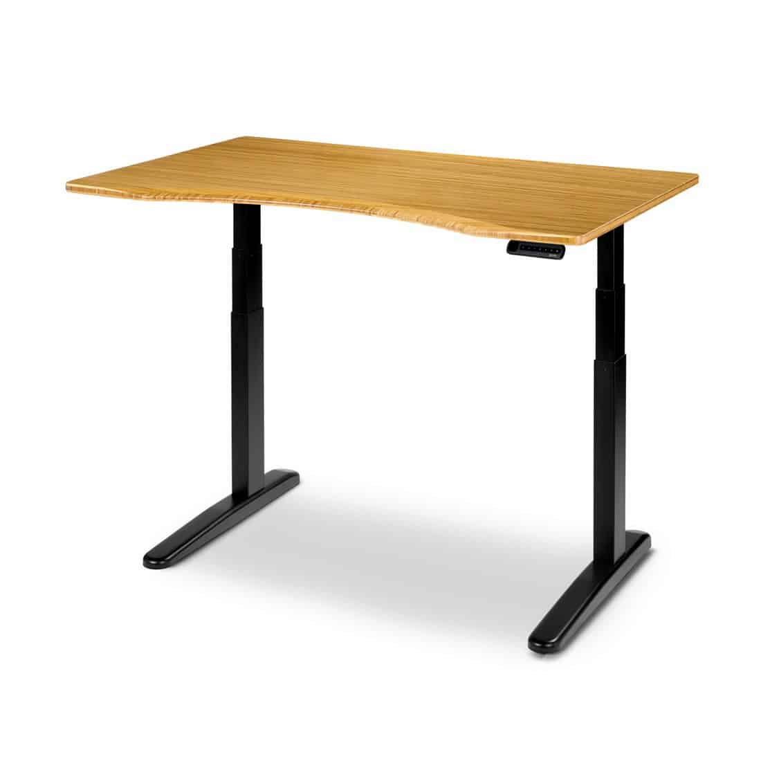A photo of the Ergo Depot Jarvis Bamboo Adjustable Height Desk.