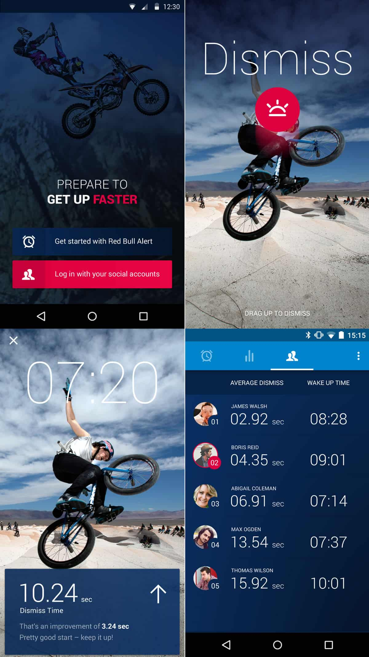Poster design top 10 - A Photo Of Red Bull Alert App Top 10 Mobile App Ui Of September 2016