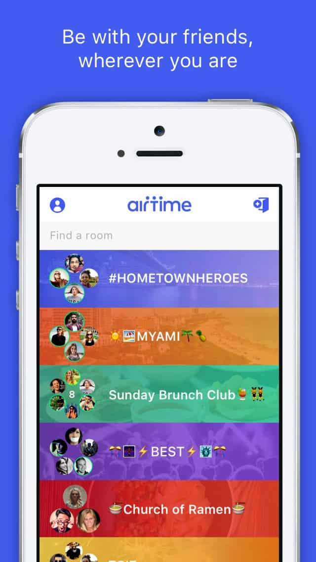 A photo of Airtime app, Best Mobile App UI Designs of 2016