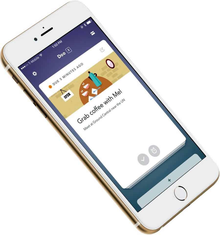 A photo of Doo app, Best Mobile App UI Designs of 2016