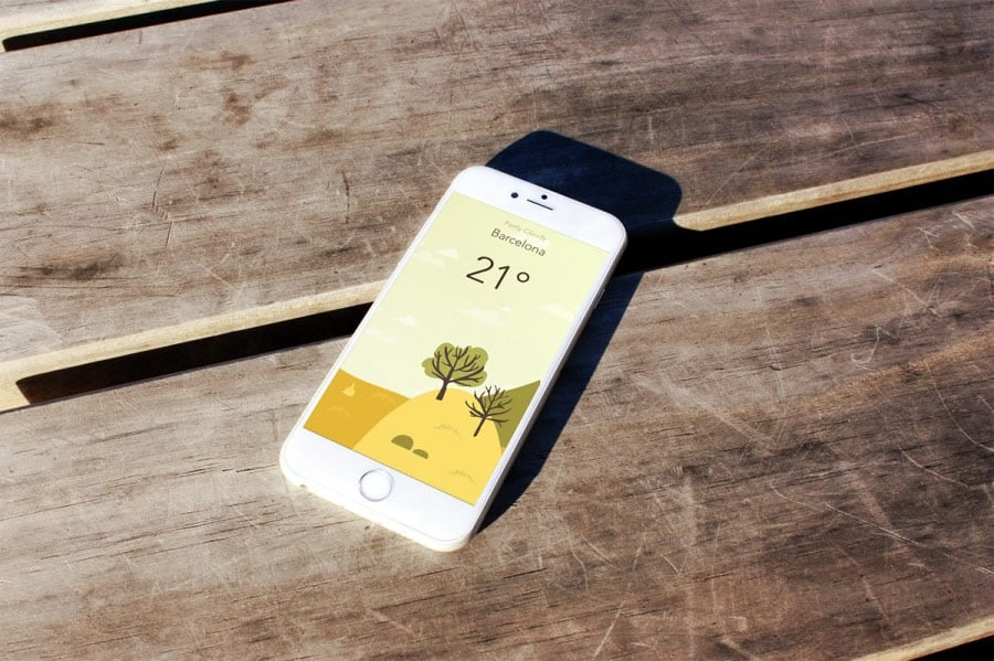 A photo of Wild Weather app, Best Mobile App UI Designs of 2016