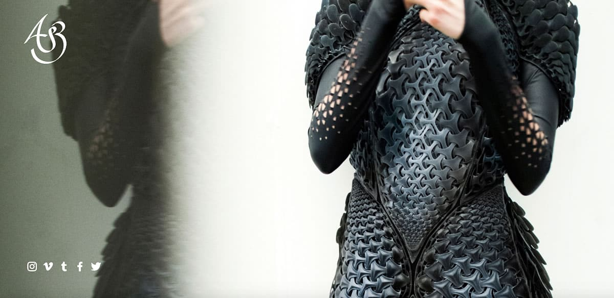 Image of a woman wearing the Pangolin Dress.