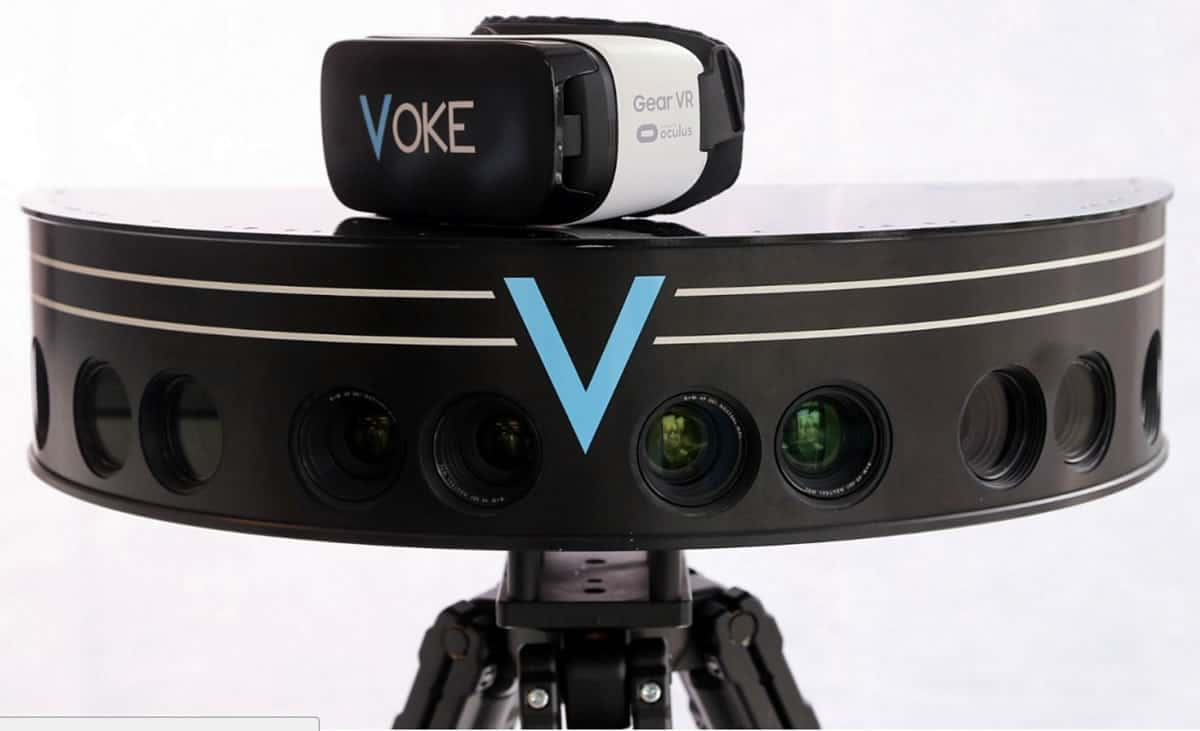 Image of the Voke Gear VR tech platform.