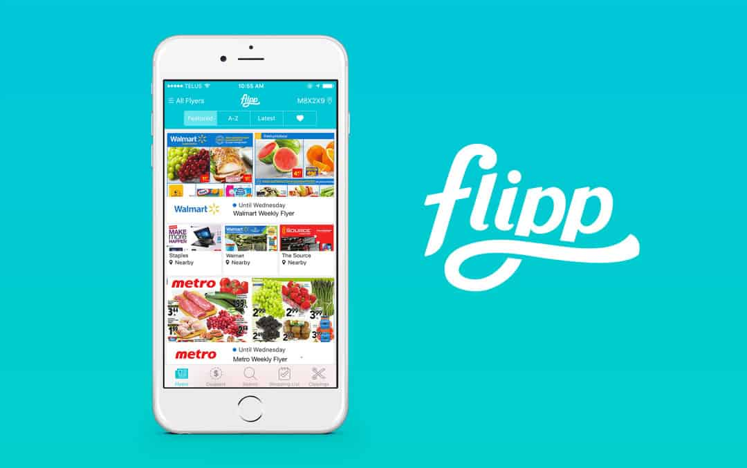 A photo of Flipp, one of many useful apps.