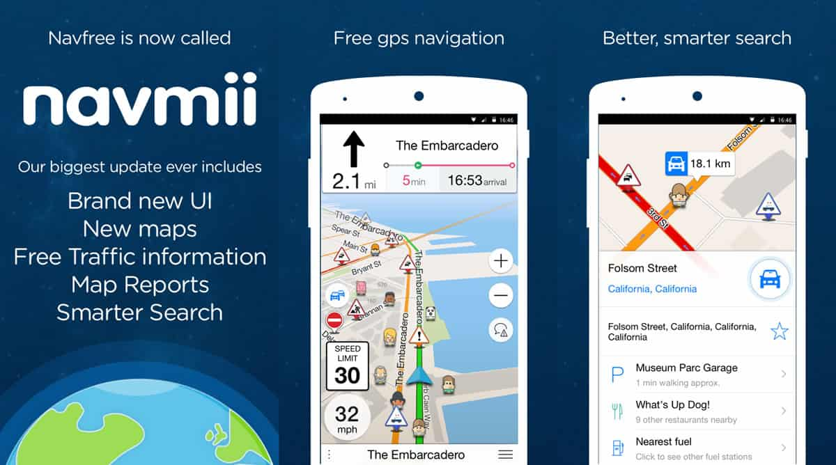 A photo of Navmii, one of many useful apps.