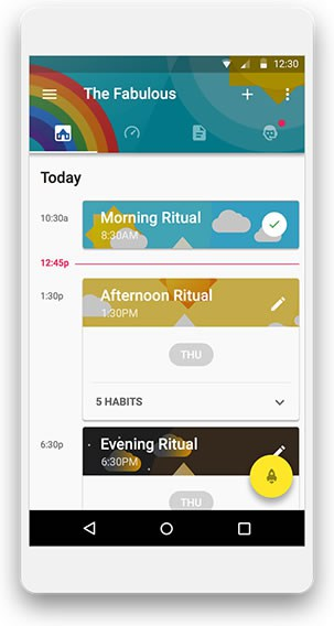 A photo of Fabulous app, Top 10 Mobile App UI of December 2016