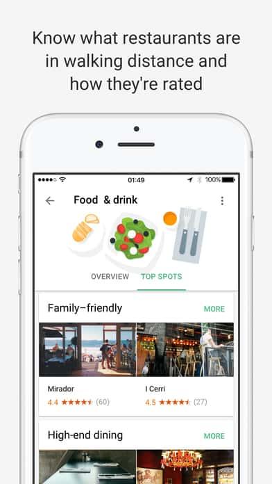A photo of Google Trips app, Top 10 Mobile App UI of December 2016