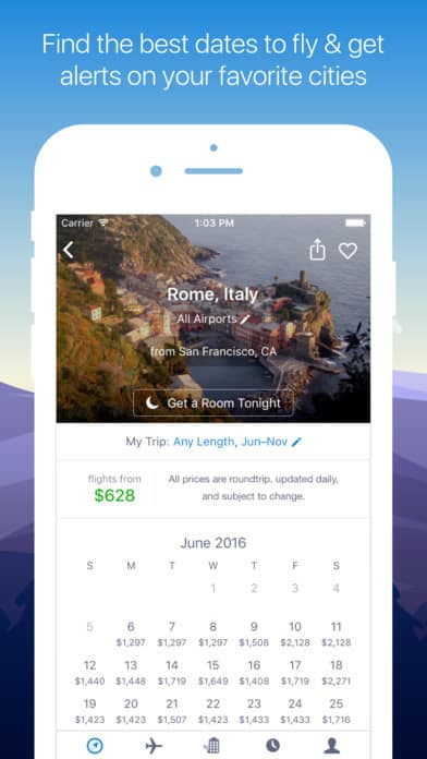 A photo of Hipmunk, Top 10 Mobile App UI of January 2017