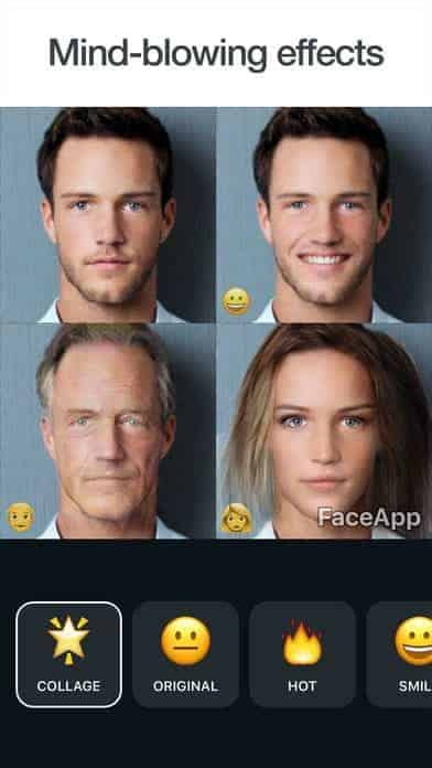 A photo of FaceApp, Top 10 Mobile App UI of May 2017
