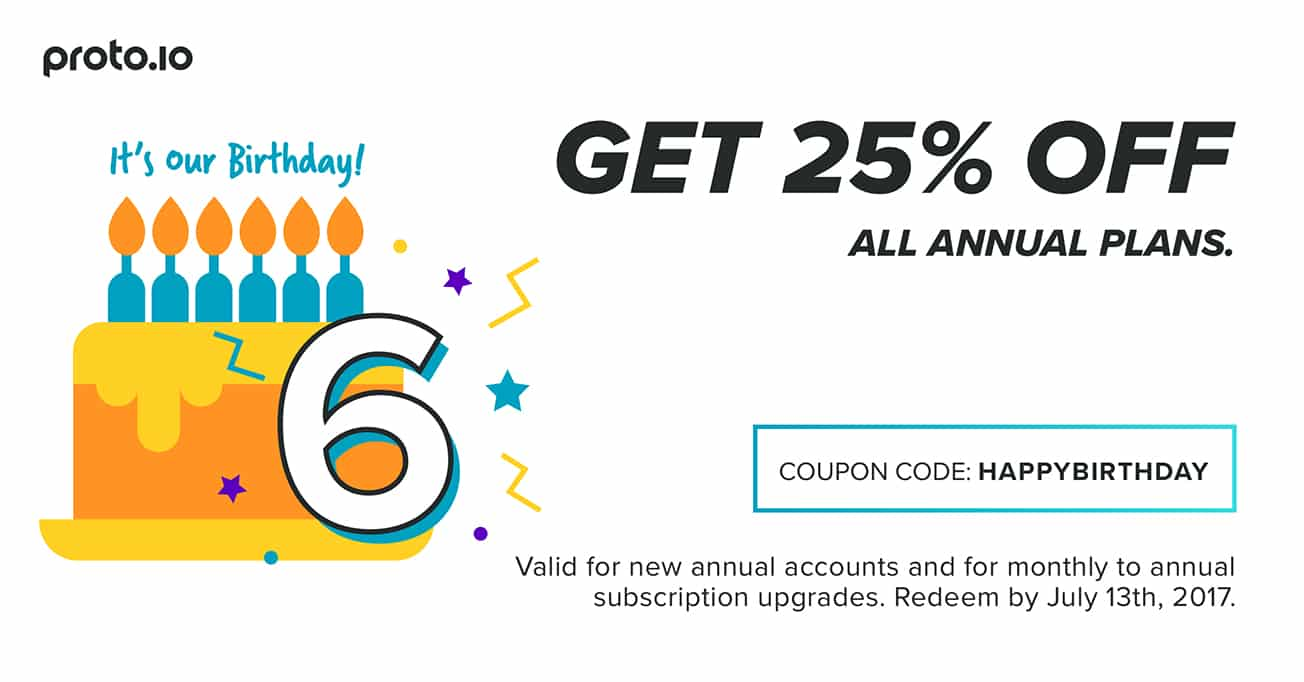 use coupon code HAPPYBIRTHDAY upon checkout