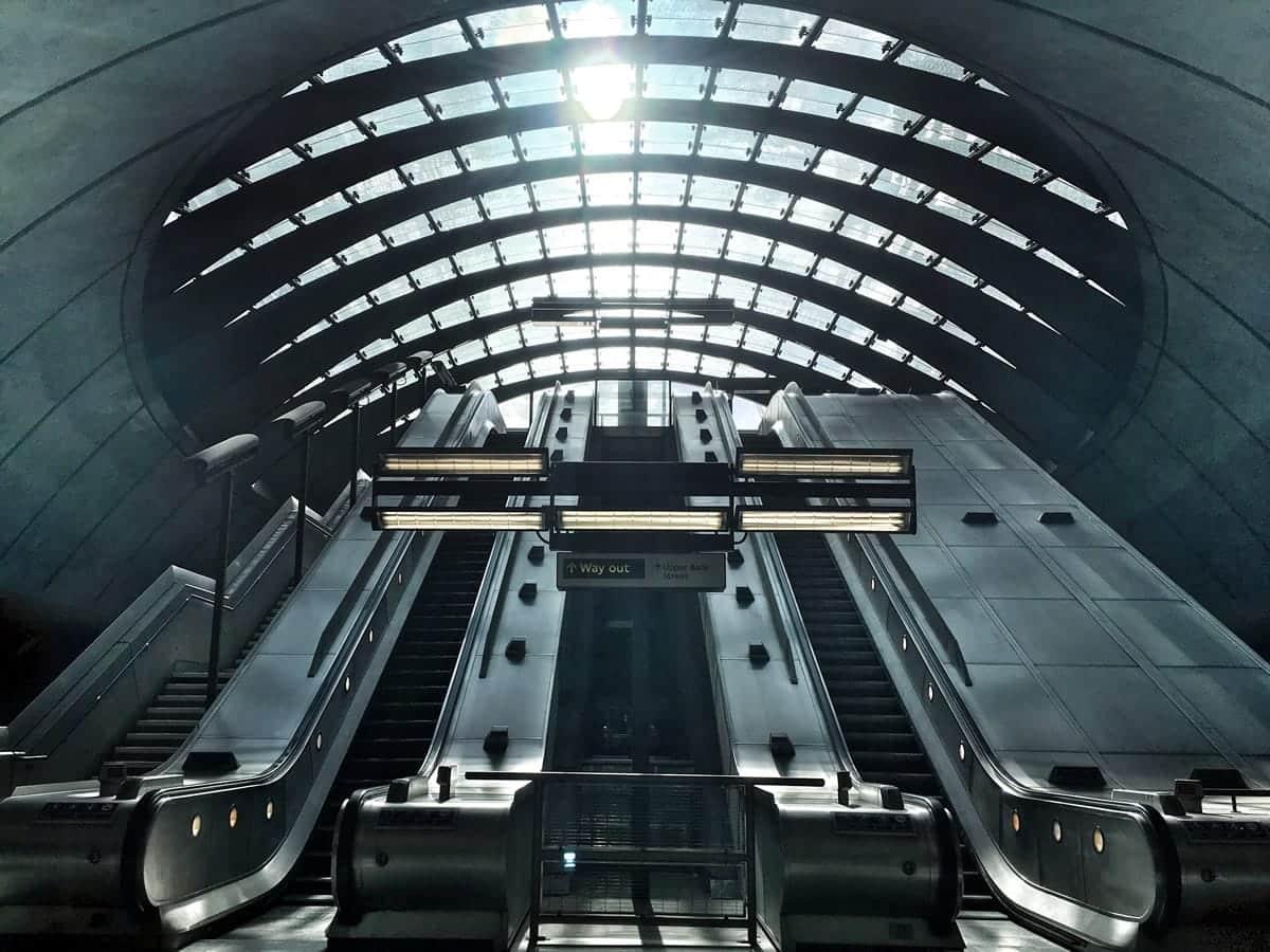 Canary Wharf station.