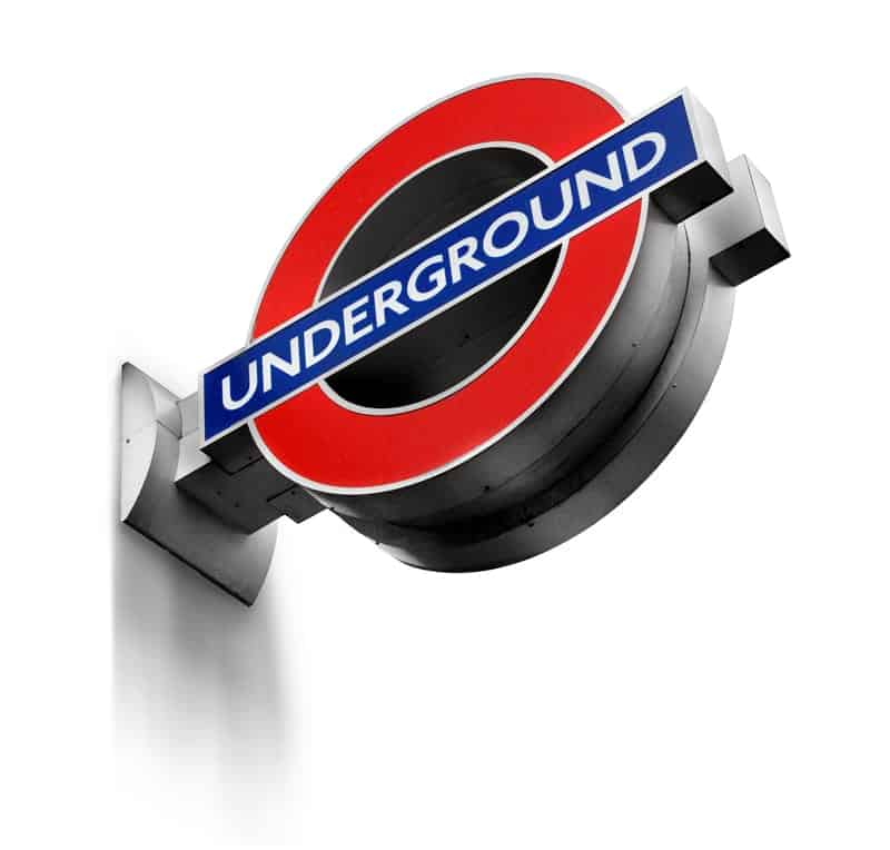 The logo of the London Underground.