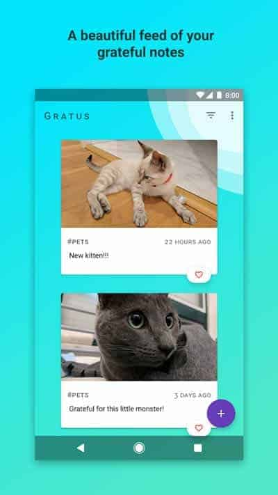 A photo of Gratus, Top 10 Mobile App UI of September 2017