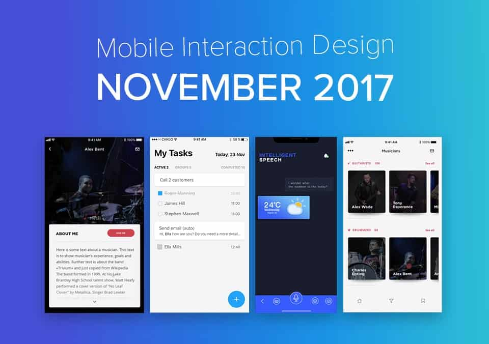 5 Terbaik Mobile Interaction Designs di bulan November 2017