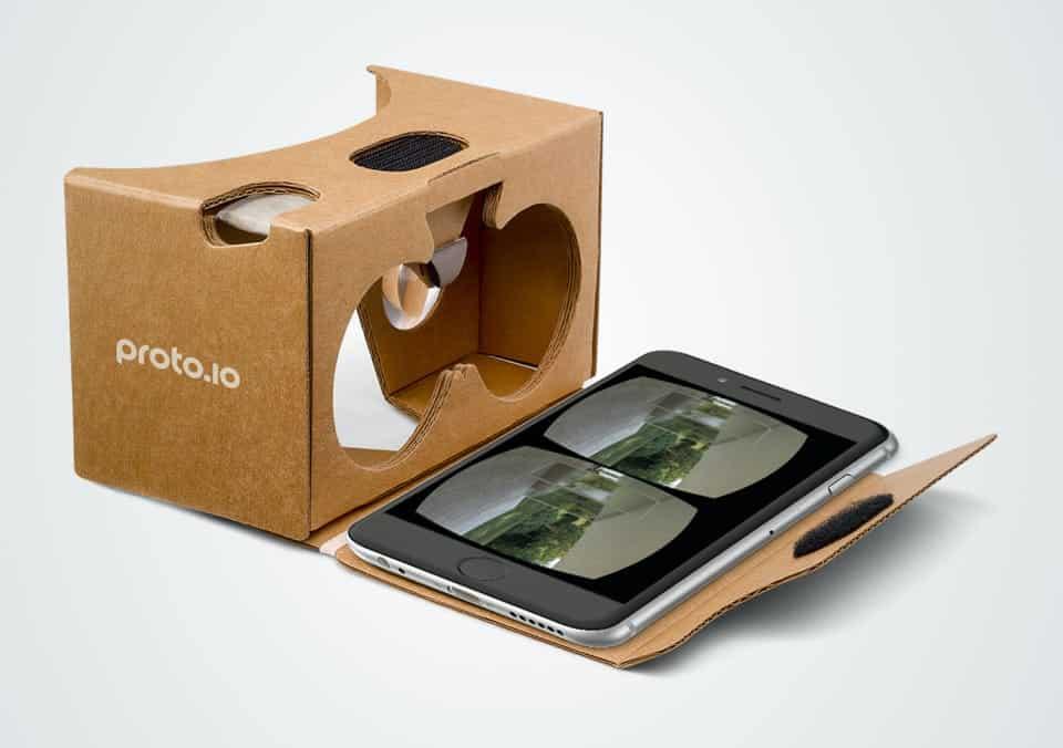Prototype for Virtual Reality using Proto.io
