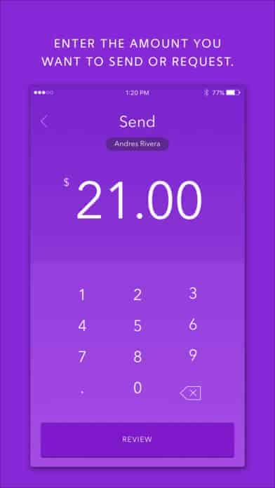 A photo of Zelle, Top 10 Mobile App UI of November 2017