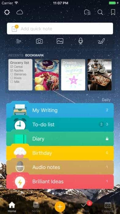 A photo of Awesome Note 2, Top Mobile App UI of 2017