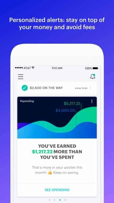 A photo of MoneyLion, Top Mobile App UI of 2017