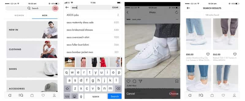 A photo of Asos, Top 10 Mobile App UI of March 2018