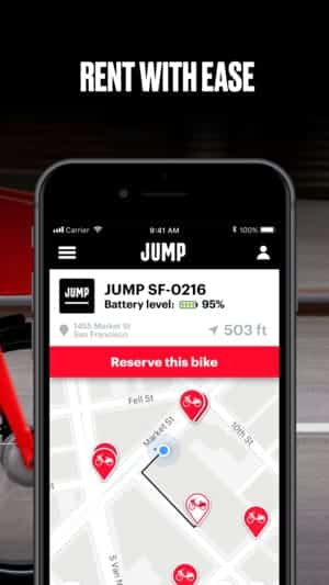 A photo of JUMP Bikes, Top 10 Mobile App UI of March 2018