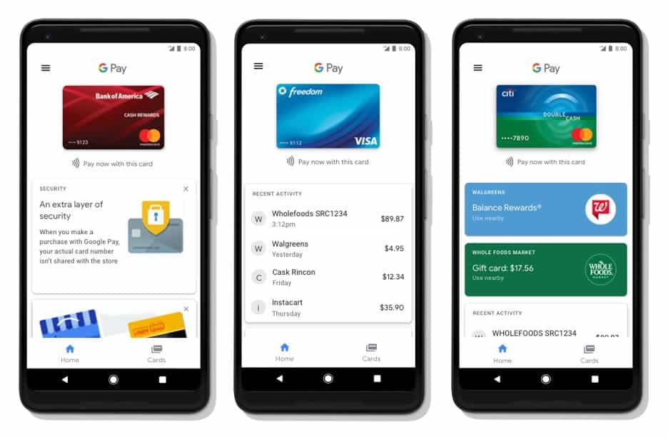 A photo of Google Pay, Top 5 Mobile App Designs of May 2018