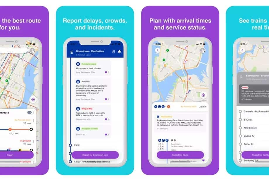 A photo of Pigeon - NYC Subway App, Top 5 Mobile App Designs of June 2018