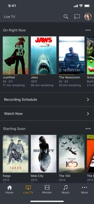 A photo of Plex, Top 5 Mobile App Designs of June 2018
