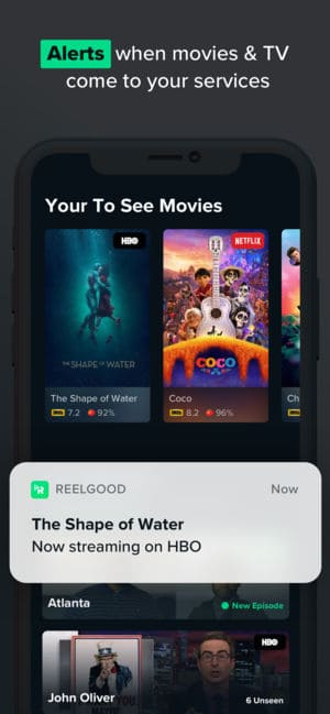 A photo of Reelgood, Top 5 Mobile App Designs of October 2018